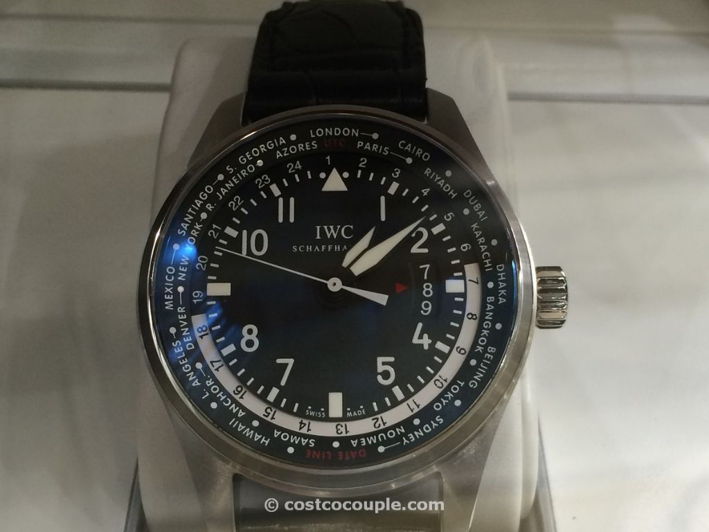 IWC Pilot Black Leather Automatic Costco 3