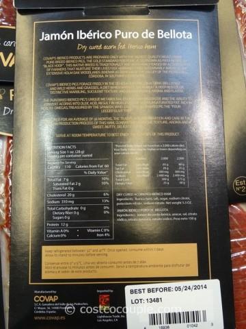 Iberico De Bellota Sliced Dry Cured Ham Costco 5