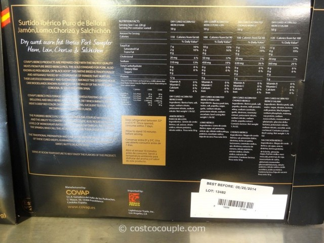 Iberico De Bellota Sliced Ham Sampler Costco 3