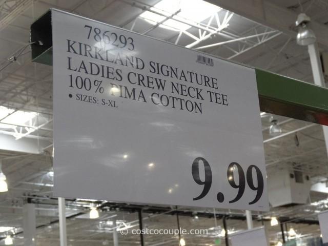 Kirkland Signature Ladies Cotton Crew Costco 1
