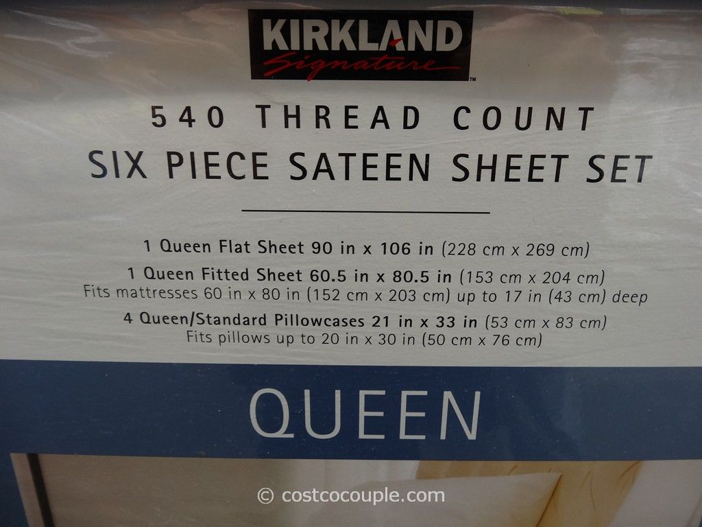 Kirkland Signature 540 Thread Count Sa Sheet Set Costco 2