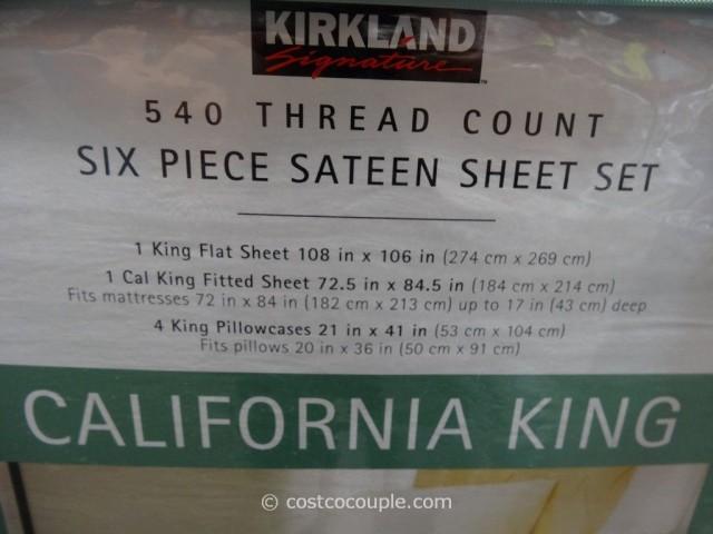 Kirkland Signature 540 Thread Count Sateen Sheet Set Costco 5