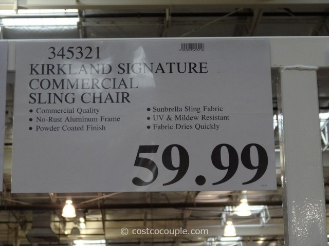 Kirkland Signature Commercial Sling Chair Costco 2