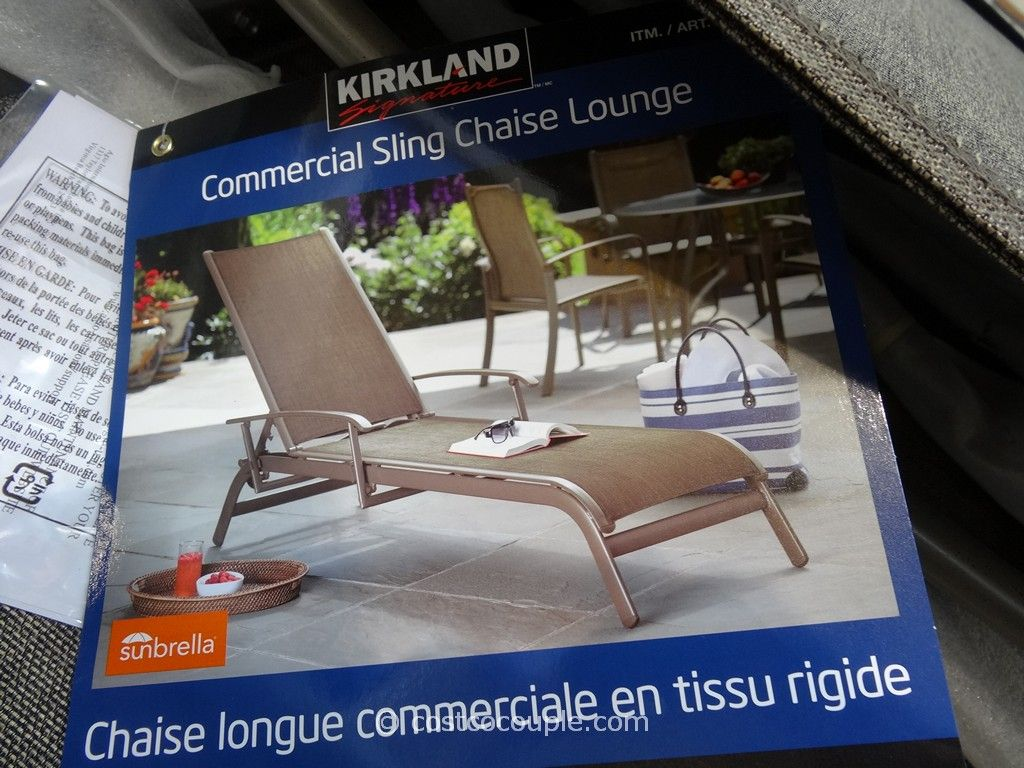 Sling patio chairs costco kirkland signature commercial for Agio international chaise lounge