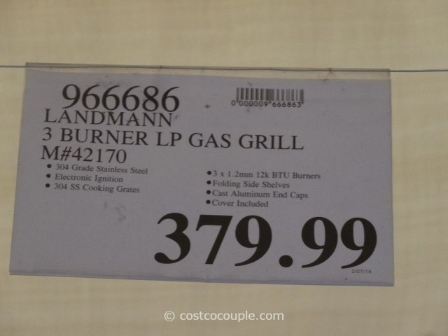Landmann 3 Burner LP Gas Grill Costco 1