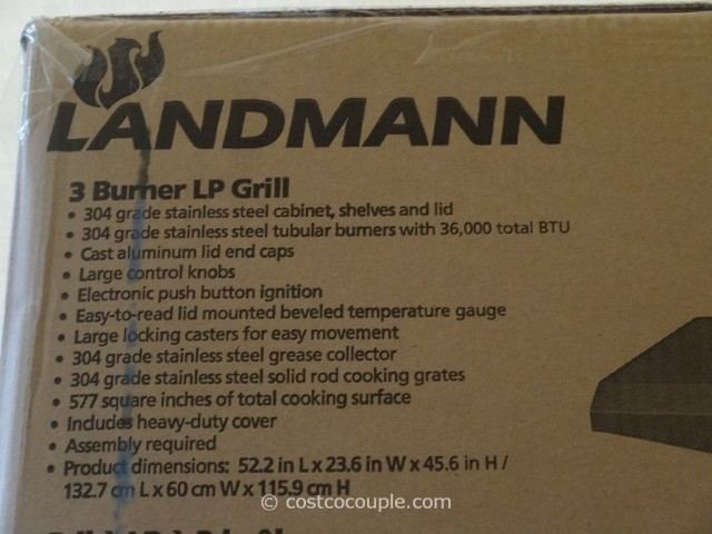 Landmann 3 Burner LP Gas Grill Costco 2
