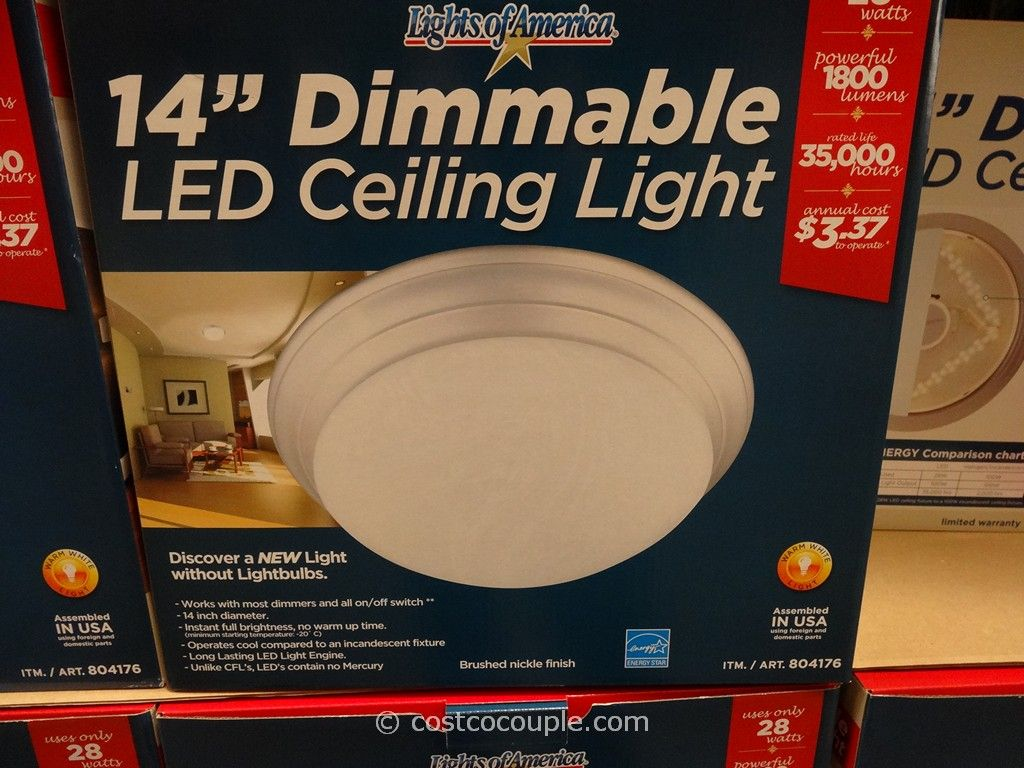 Lights Of America 14-Inch Dimmable LED Ceiling Light Costco 2