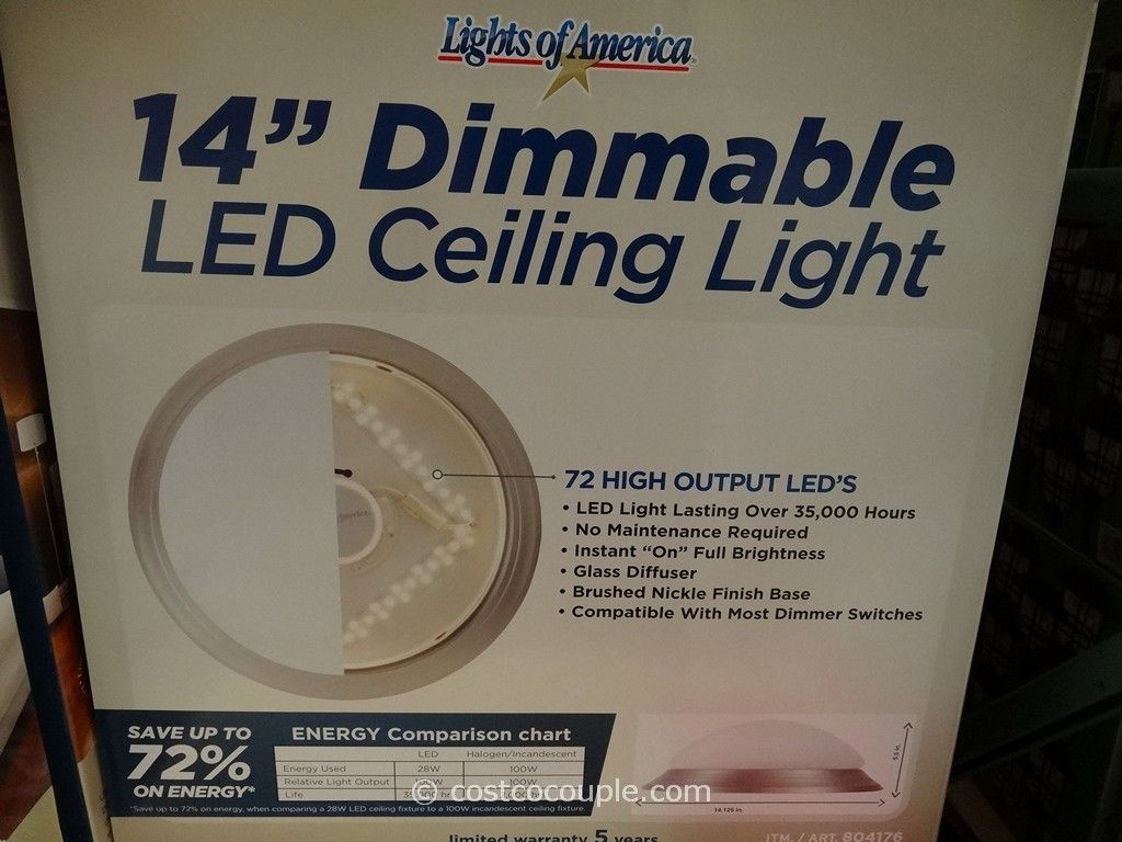 Lights of america 14 inch dimmable led ceiling light lights of america 14 inch dimmable led ceiling light costco 5 aloadofball Images