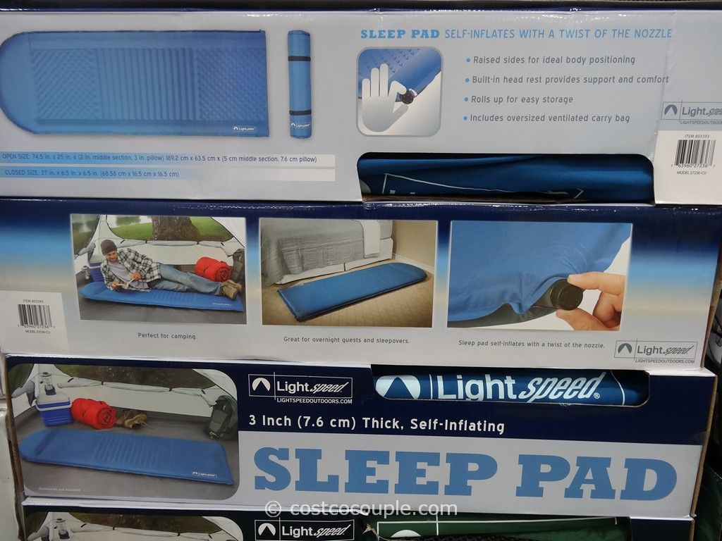Lightspeed Self-Inflating Foam Sleeping Pad Costco 4