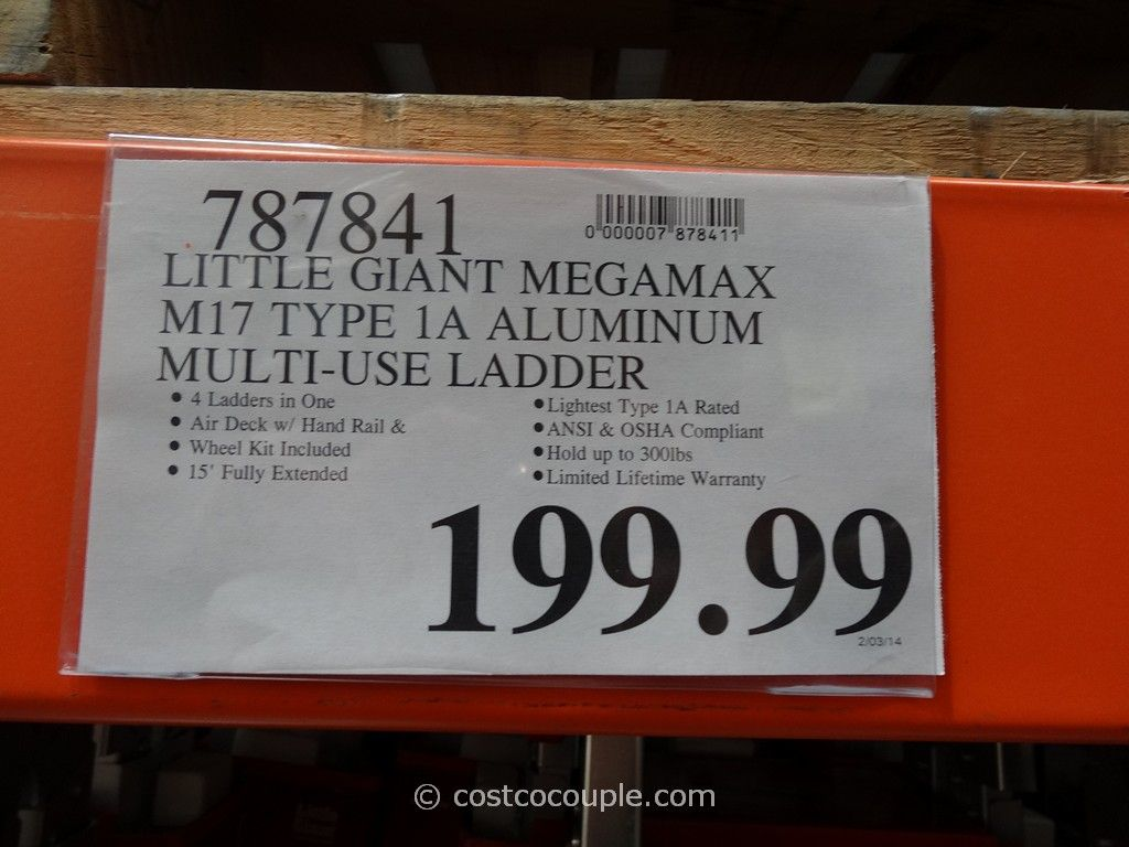 Little Giant Megamax M17 Type 1a Aluminum Ladder