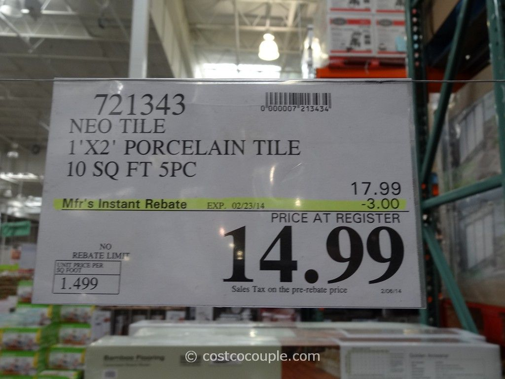 Neo Tile Urban Groove Light Grey Porcelain Tile Costco 1. Neo Tile Urban Groove Light Grey Porcelain Tile