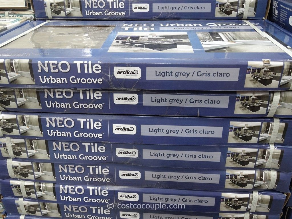 Neo Tile Urban Groove Light Grey Porcelain Tile Costco 2