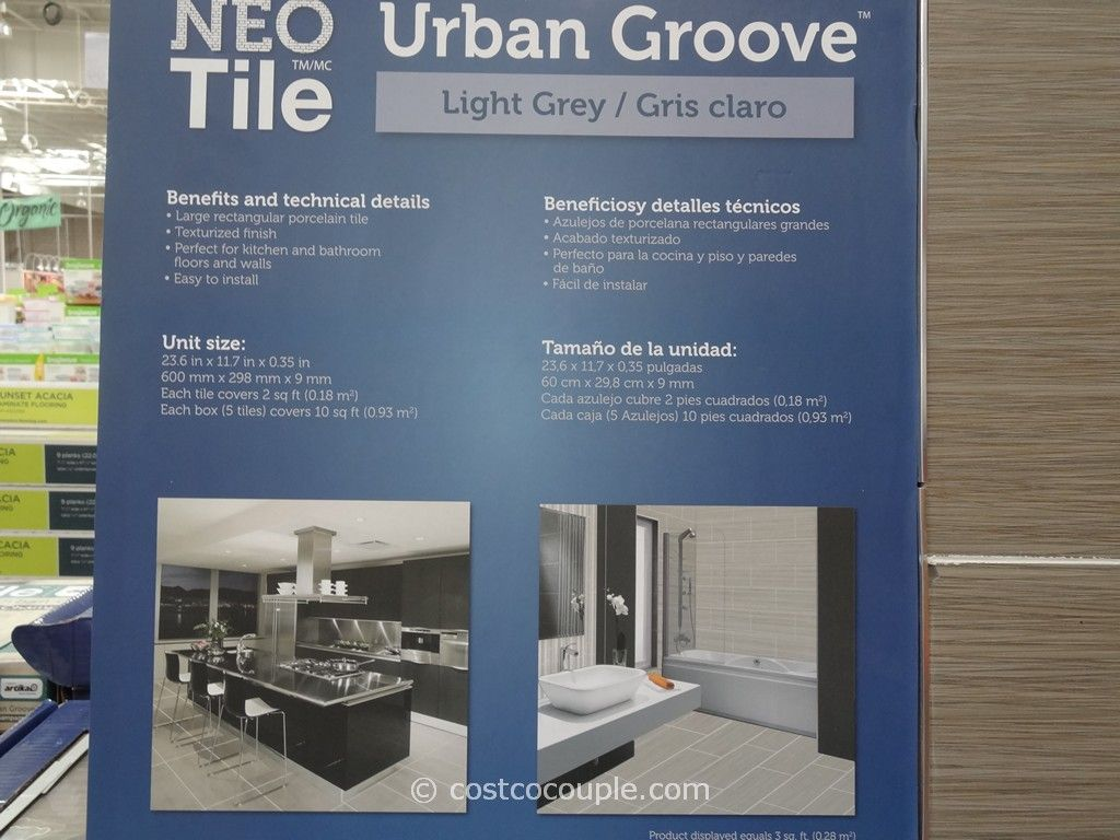Neo Tile Urban Groove Light Grey Porcelain Tile Costco 4. Neo Tile Urban Groove Light Grey Porcelain Tile