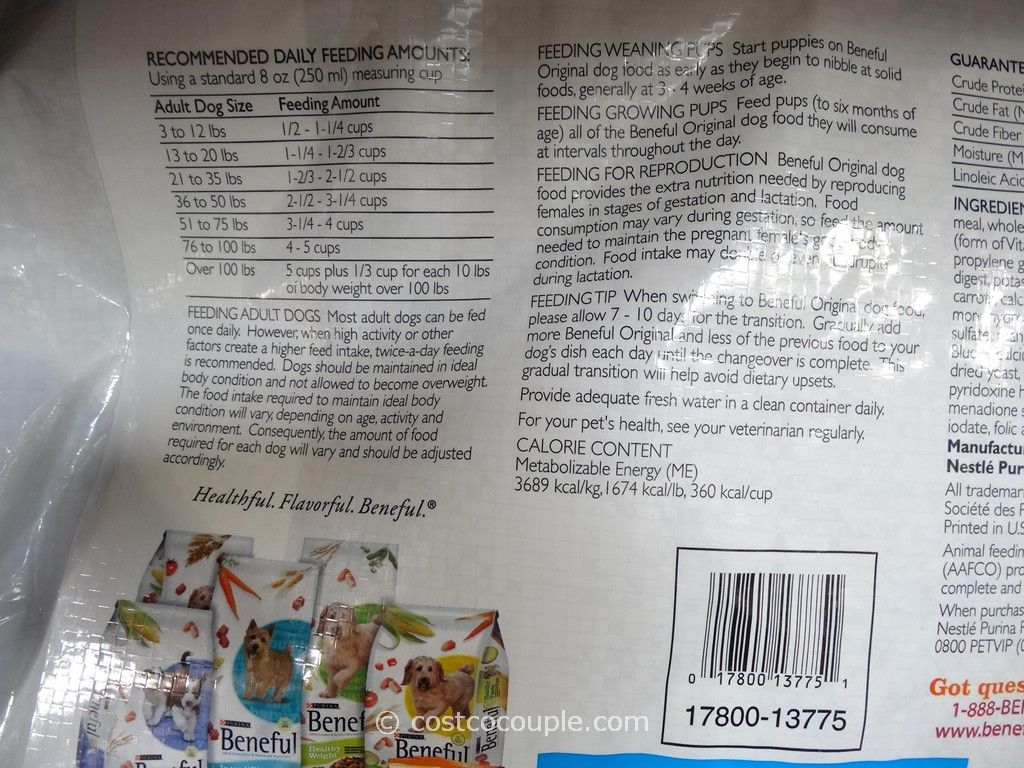Purina Dog Food Label