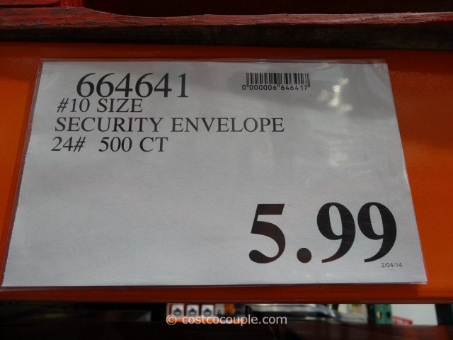 Number 10 Security Envelopes Costco 3