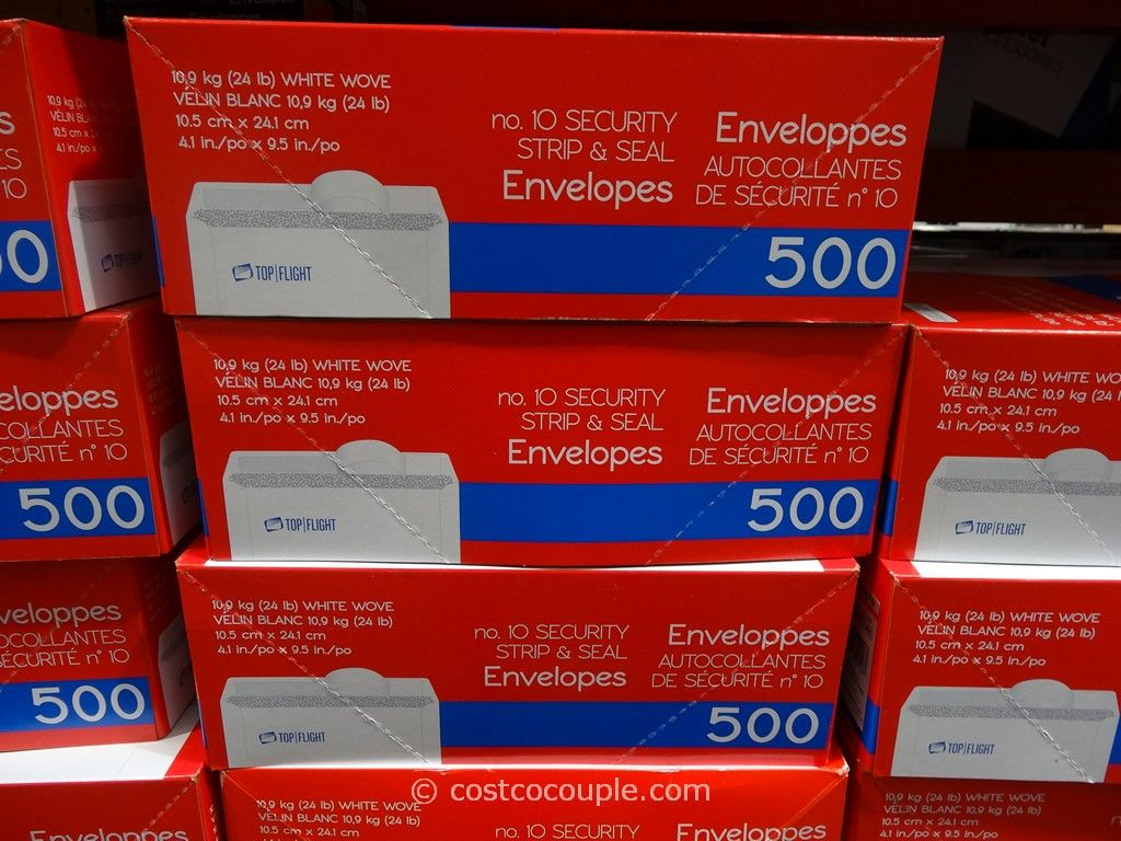 Number 10 Security Strip and Seal Envelopes Costco 1