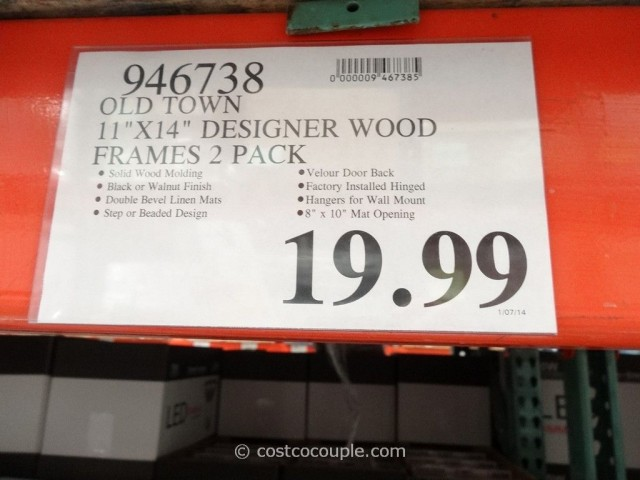 Old Town 11 x 14 Designer Wood Frames Costco 1