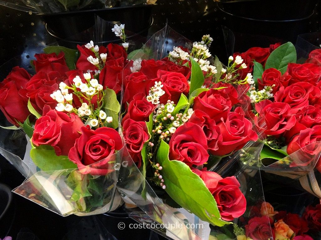 One Dozen Roses Valentine Bouquet Costco 3