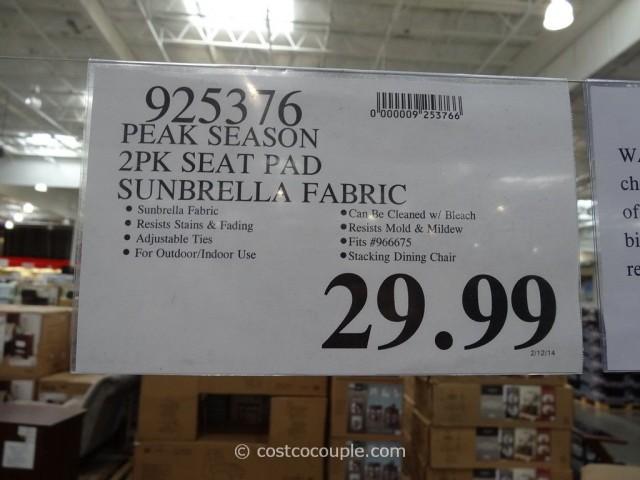 Peak Season Outdoor Seat Pads Costco 1