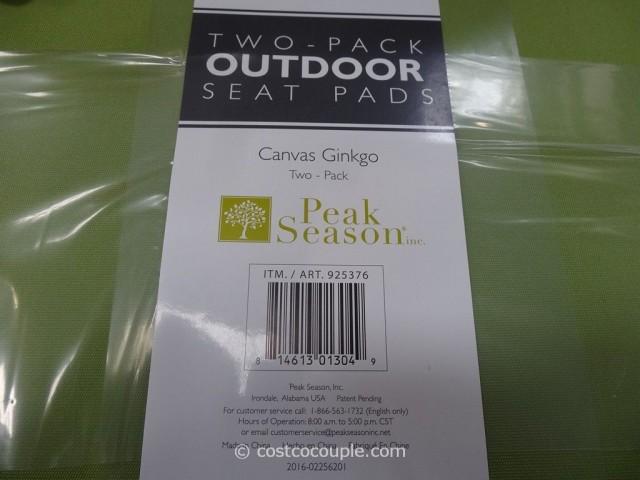 Peak Season Outdoor Seat Pads Costco 4