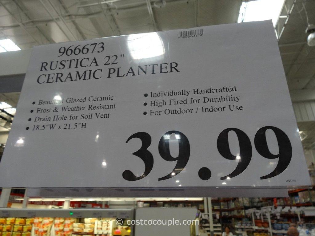 Rustica 22 Inch Ceramic Planter