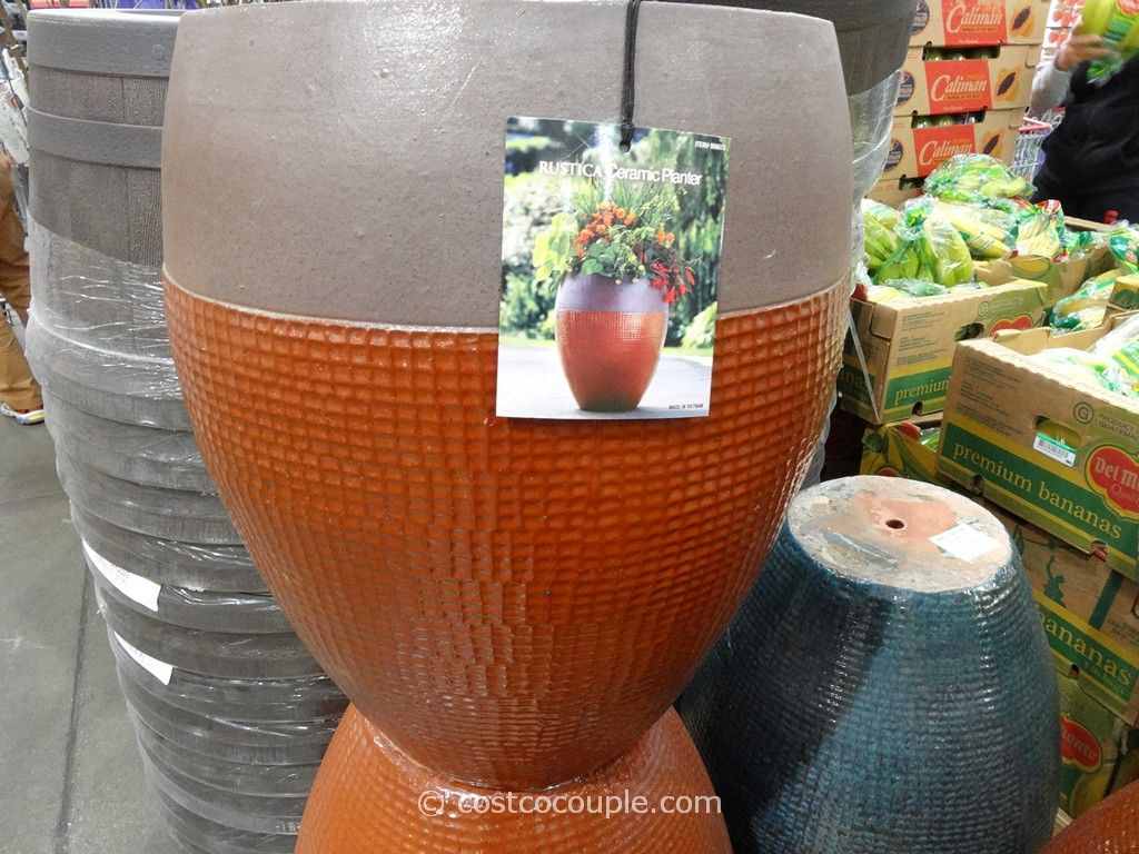 Rustica 22 Inch Ceramic Planter Costco 3