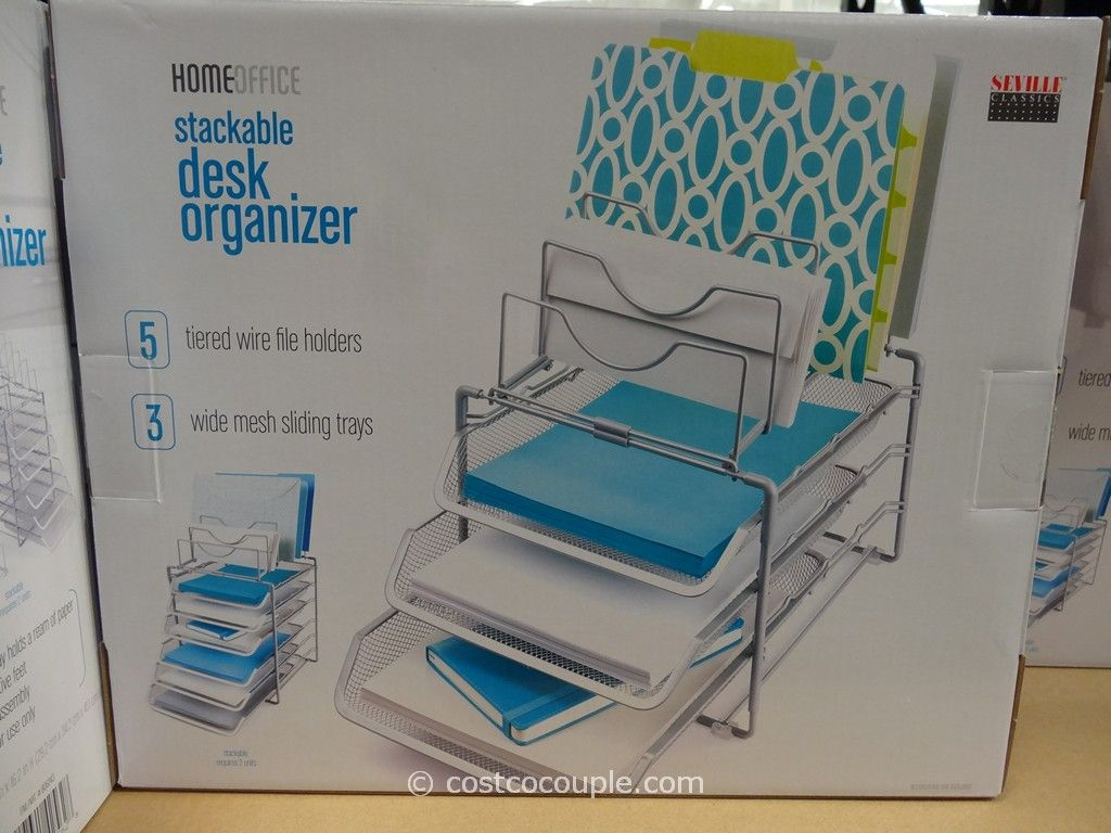 Seville Classics Stackable Desk Organizer Costco 3