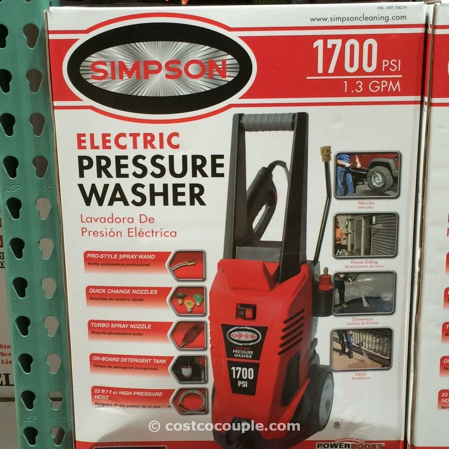 Simpson 1700 psi Electric Pressure Washer Costco 2