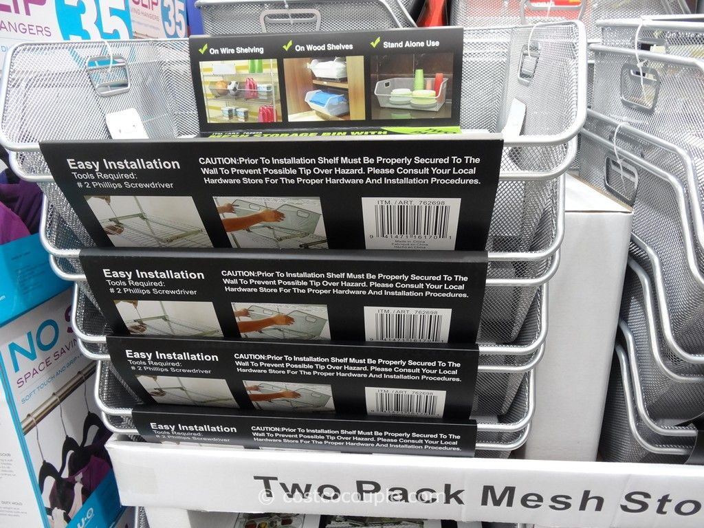 Sliding Wire Mesh Storage Bins Costco 2