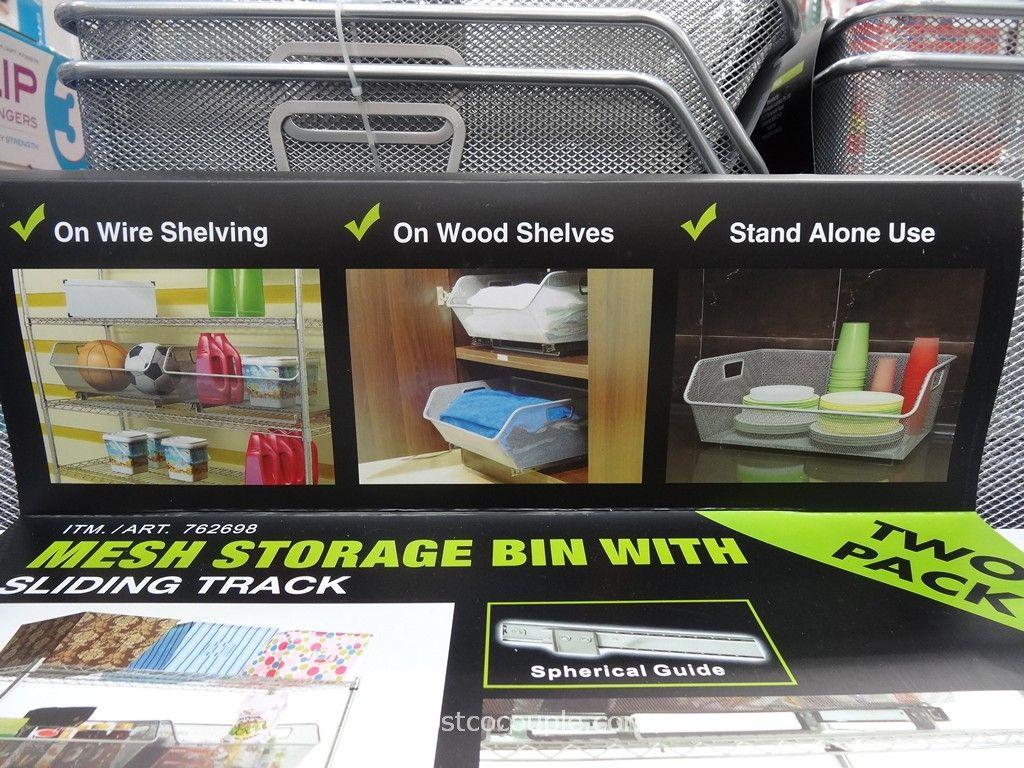 ... Sliding Wire Mesh Storage Bins Costco 4 ...