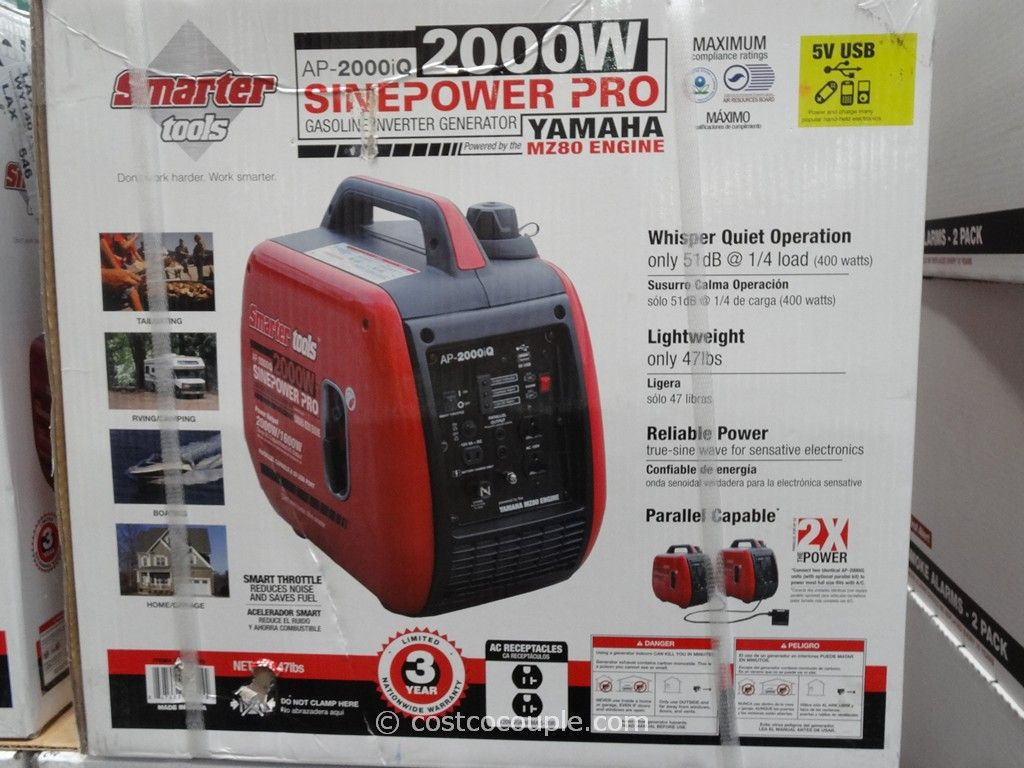 Smarter Tools 200W Gasoline Inverter Generator Costco 4