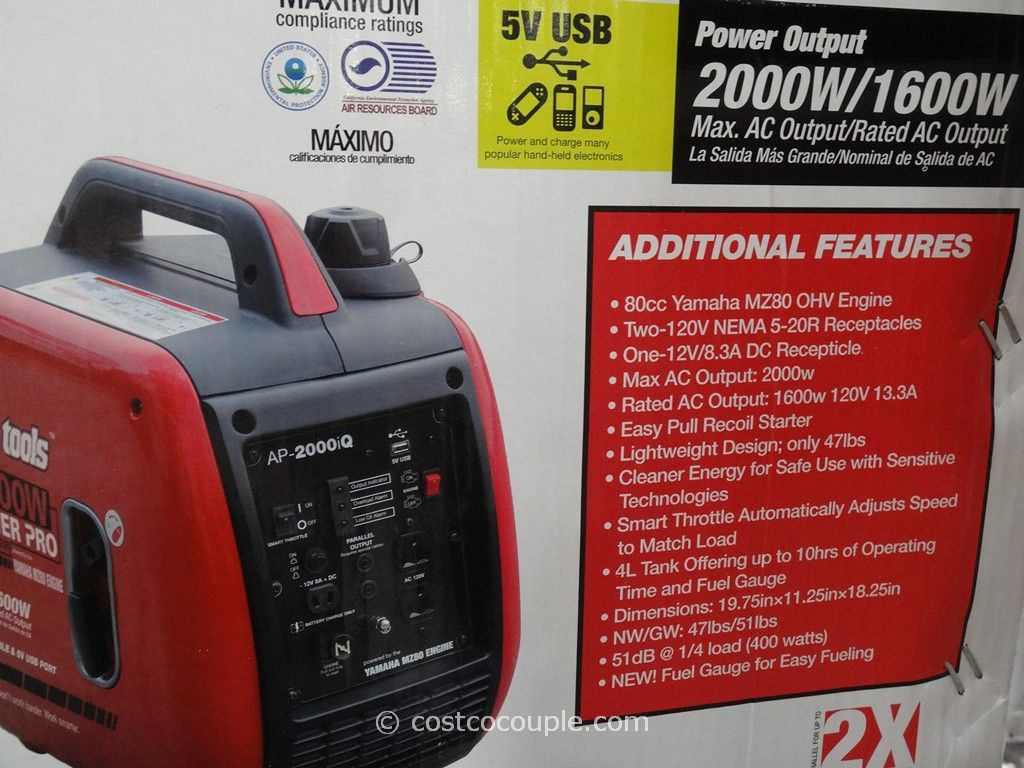 Smarter Tools 2000W Gasoline Inverter Generator