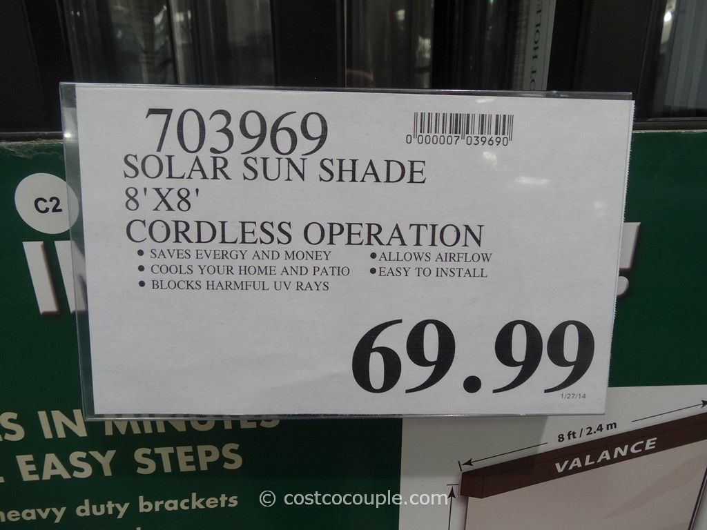 Solar Exterior Sun Shade Costco 2 Pictures To Pin On Pinterest