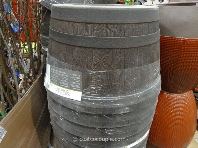 Southern Patio 25-Inch Whiskey Barrel High Density Resin Planter Costco 2