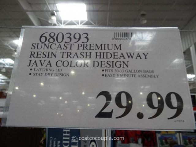 Suncast Premium Trash Hideway Costco 1