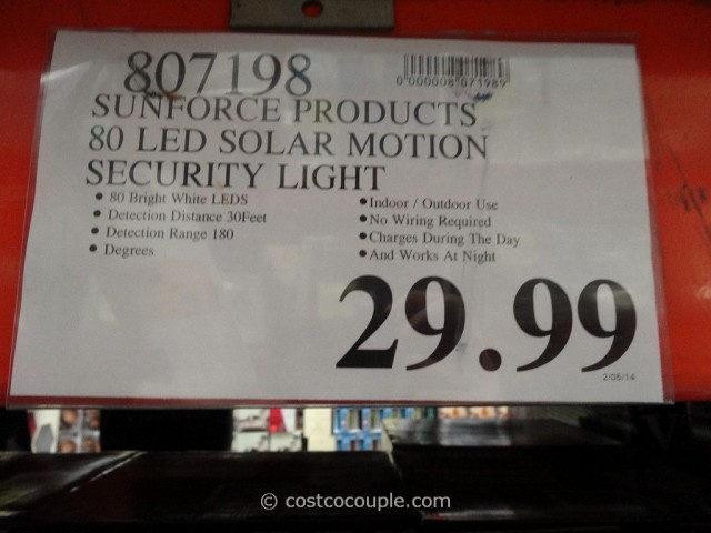 Sunforce LED Solar Motion Light Costco 1