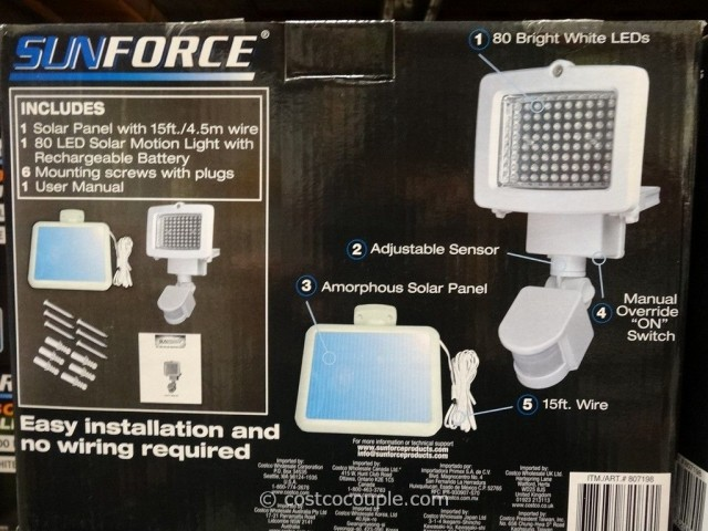 Sunforce LED Solar Motion Light Costco 3