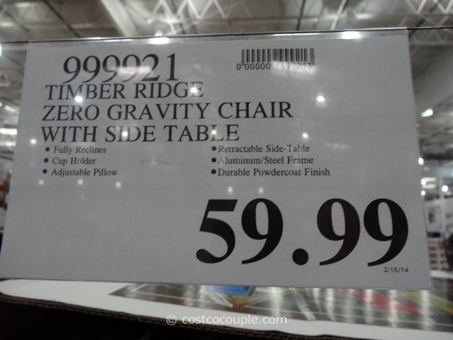 Timber Ridge Zero Gravity Lounge Chair Costco 3