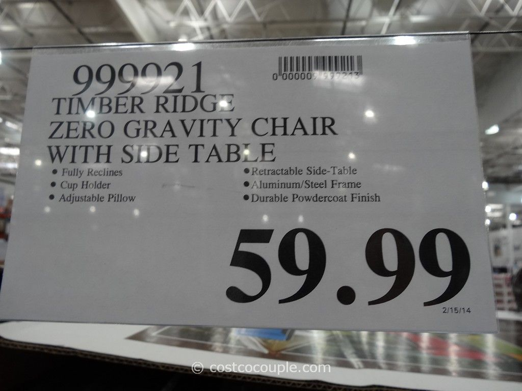 Timber Ridge Zero Gravity Lounge Chair Costco on Zero Gravity Chair Relax The Back