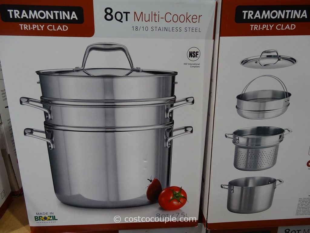 Tramontina 8Qt Multi-Cooker Stainless Steel Set Costco 2