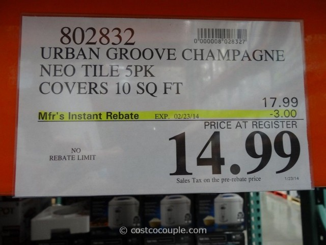Urban Groove Champagne Neo Tile Costco