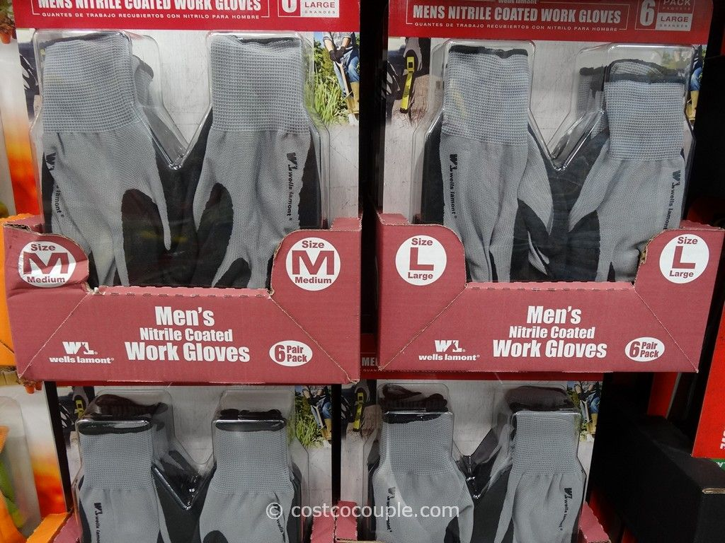 Wells Lamont Mens Nitrile Work Gloves Costco 1