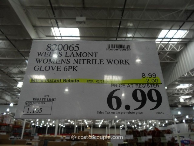 Wells Lamont Womens Nitrile Work Gloves Costco  3