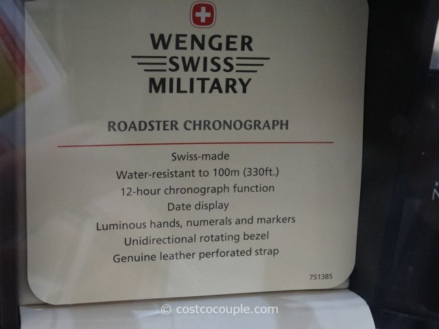 Wenger Swiss Military Roadster Chronograph Watch Costco 3
