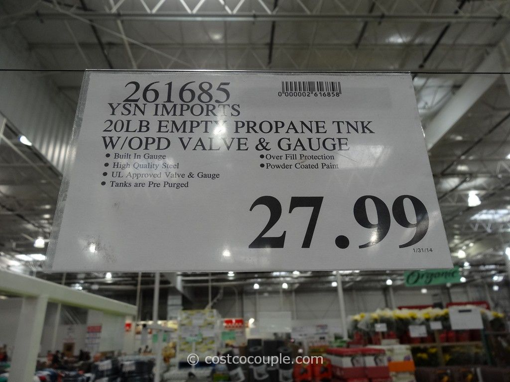 Ysn Imports 20 Lb Empty Propane Tank