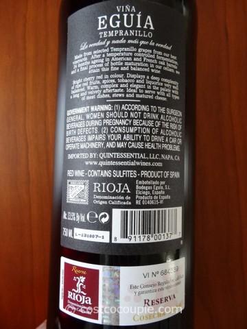 2009 Vina Eguia Rioja Reserva Costco 3