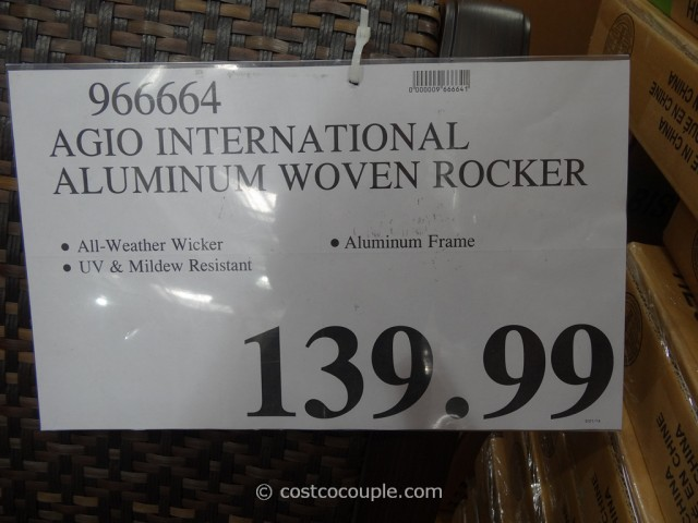 Agio International Aluminum Woven Rocker Costco 2