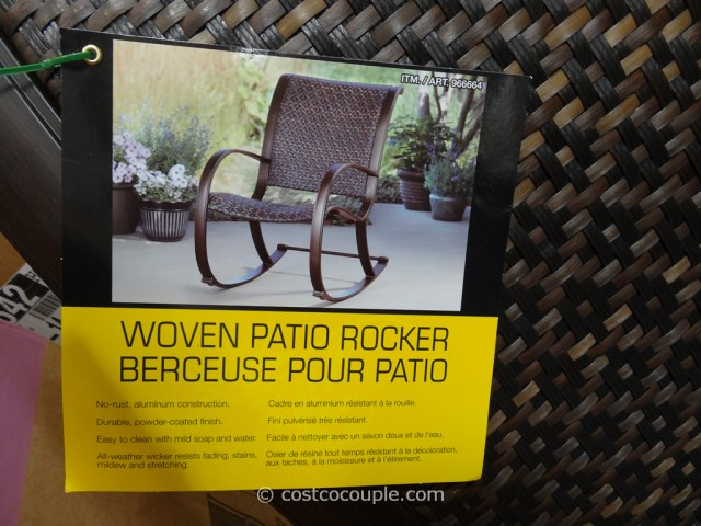 Agio International Aluminum Woven Rocker Costco 3
