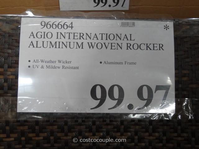 Agio International Aluminum Woven Rocker Costco