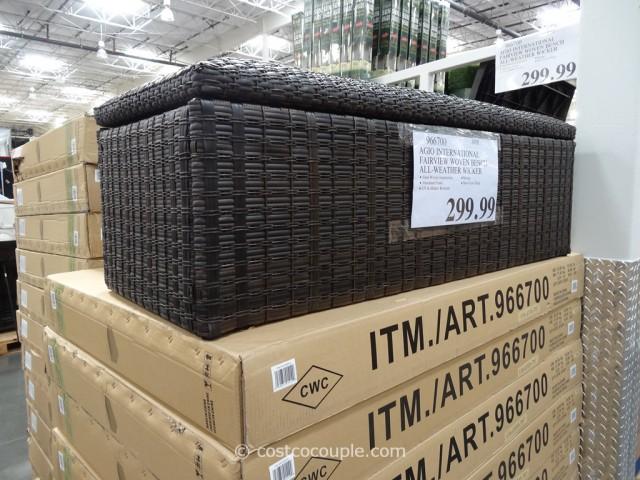 Agio International Fairview Woven Storage Bench